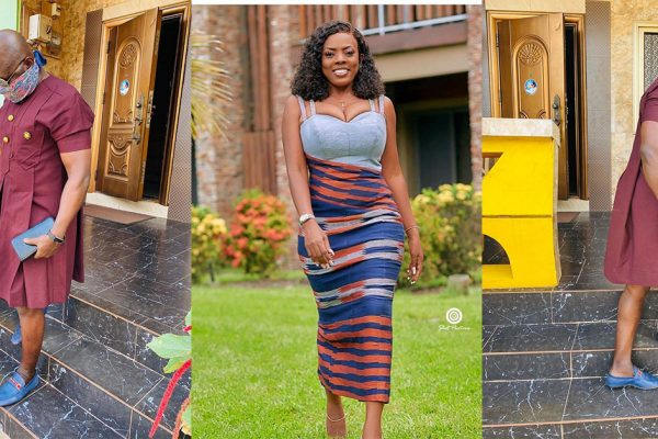 FANS TROLL NANA ABA ANAMOAH AFTER HER BABY DADDY IS SEEN WEARING A DRESS