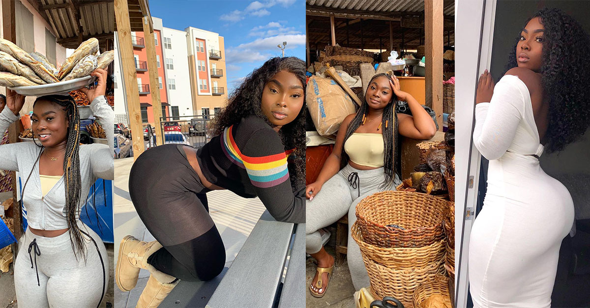 MORE PICTURES OF GHANAIAN SLAY QUEEN WHO WAS SELLING DRY FISH POP UP